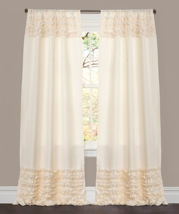 Ivory Skye Window Curtain Panel