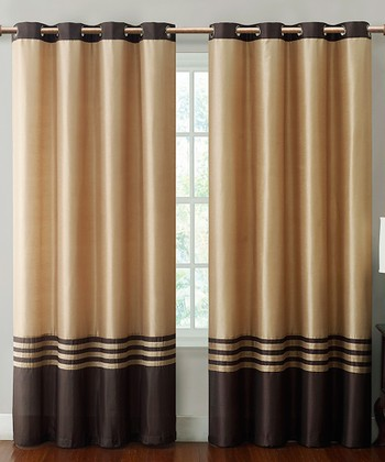 Chocolate & Taupe Barclay Curtain Panel