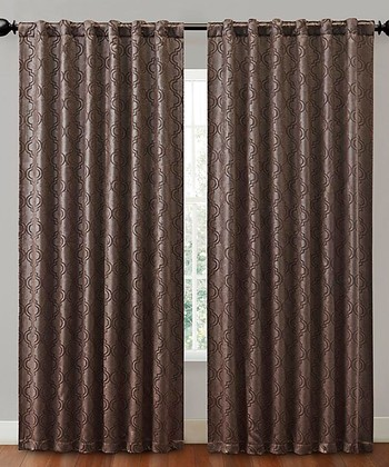 Chocolate Hensley Blackout Curtain Panel