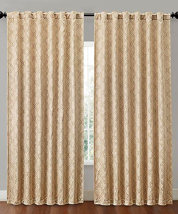 Gold Hensley Blackout Curtain Panel