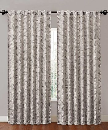 Silver Hensley Blackout Curtain Panel