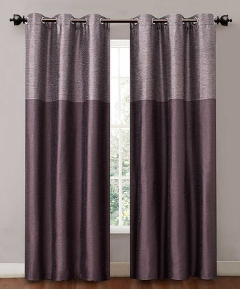 Purple Lancaster Curtain Panel - Set of Two