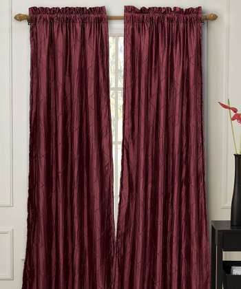 Merlot Nathan Lined Curtain Panel