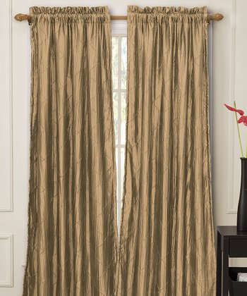 Sandstone Nathan Lined Curtain Panel