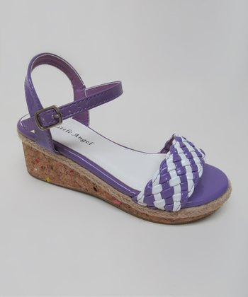 Purple & White Cici Sandal