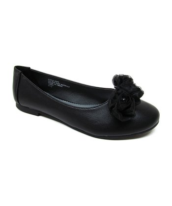 Black Fluffy Flower Enna Flat