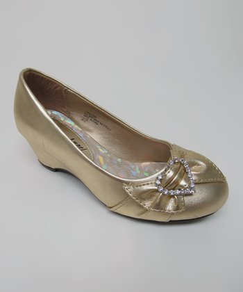 Gold Heart Hailey Shoe