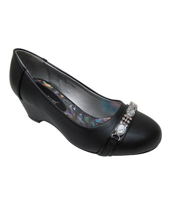 Black Hailey Buckle Shoe
