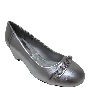 Silver Hailey Buckle Shoe