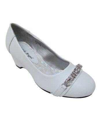 White Hailey Buckle Shoe