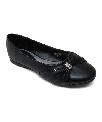 Black Rhinestone Kelly Flat