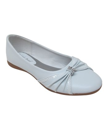 White Rhinestone Kelly Flat