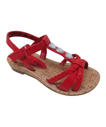 Red Braided Tara Sandal
