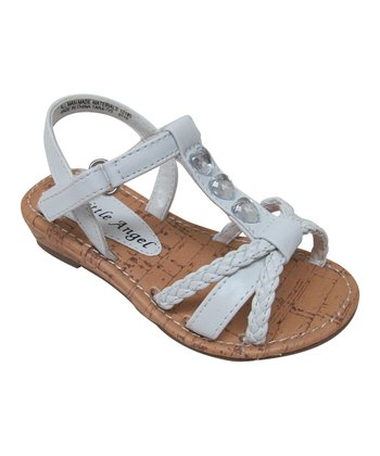 White Braided Tara Sandal