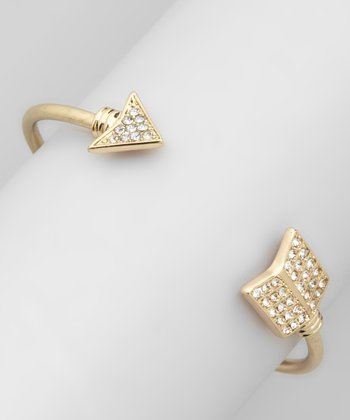 Gold Rhinestone Arrow Cuff