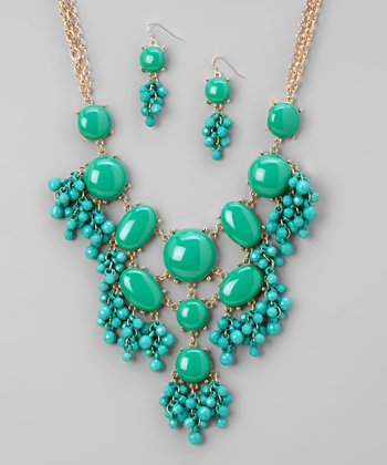 Turquoise Bubble Necklace & Earrings