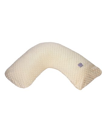 Ivory Minky Dot Nursing Pillow & Slipcover