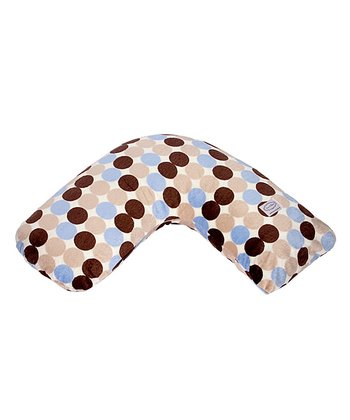Big Blue Polka Dot Bosom Baby Nursing Pillow