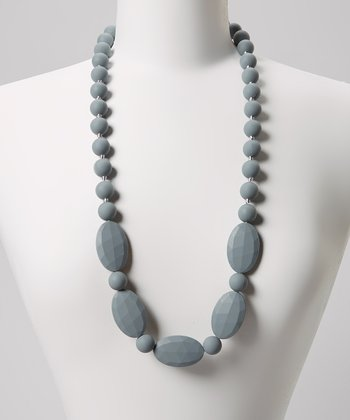 Gray Emma Teething Necklace