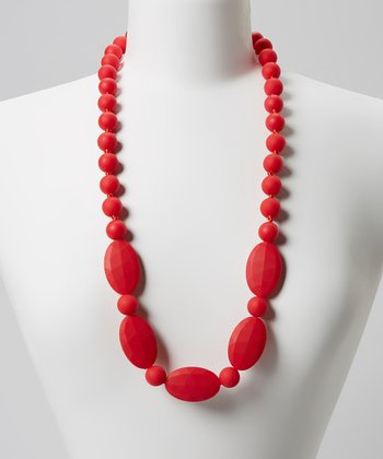 Red Emma Teething Necklace