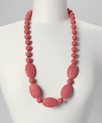 Coral Emma Teething Necklace