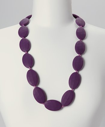 Plum Charlotte Teething Necklace