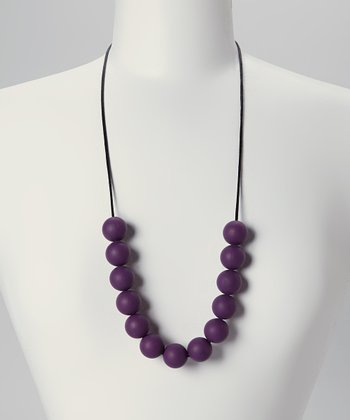 Plum Sophia Teething Necklace