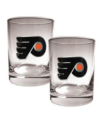 Philadelphia Flyers 14-Oz. Glass - Set of Two