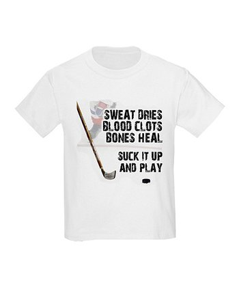 White 'Suck It Up and Play' Tee - Kids