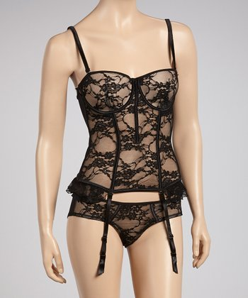 Black Lace Corset - Women & Plus