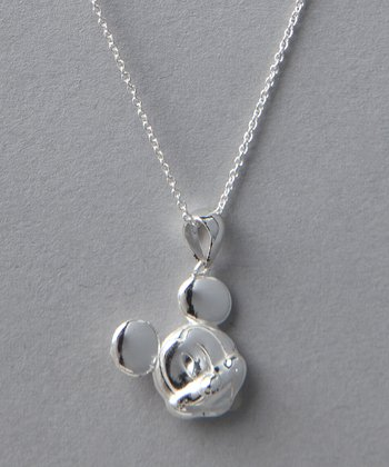 Sterling Silver Mickey Pendant Necklace
