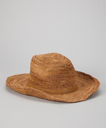 Straw Studios Brown Raffia Cowboy Hat