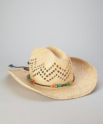 Straw Studios Natural Beaded Cowboy Hat