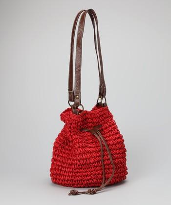 Straw Studios Red Bucket Bag