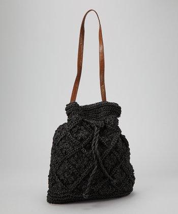 Straw Studios Black Small Bucket Bag
