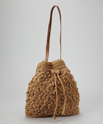 Straw Studios Brown Small Bucket Bag
