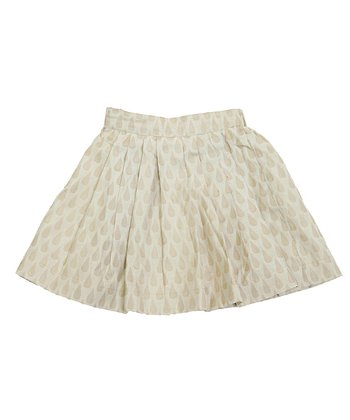 Ivory & Almond	Navya Silk Skirt - Toddler & Girls