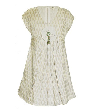 Ivory & Almond Navya Silk Dress - Toddler & Girls