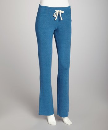 Belgium Blue Basic Flare Drawstring Pants