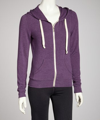 Purple Wine Zip-Up Hoodie