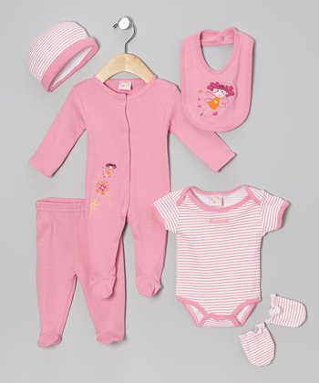 Pink Fairy Six-Piece Layette Set