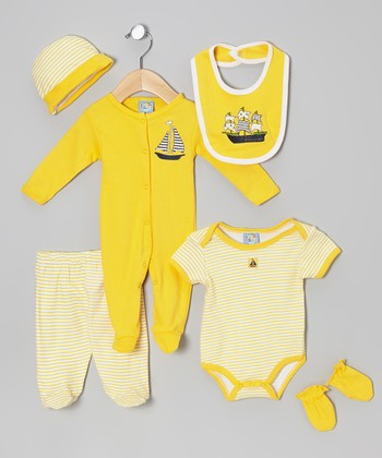 Sweet & Soft Yellow Ship Six-Piece Layette Set - Infant