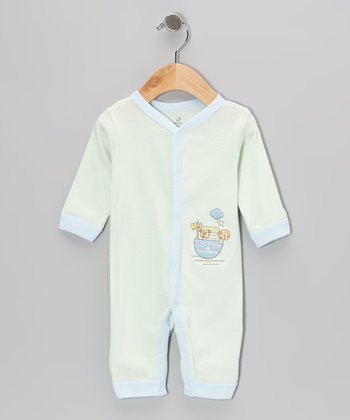 Lime Noah's Ark Playsuit