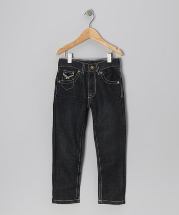Heavy Worn Wash Skinny Jeans - Toddler & Boys