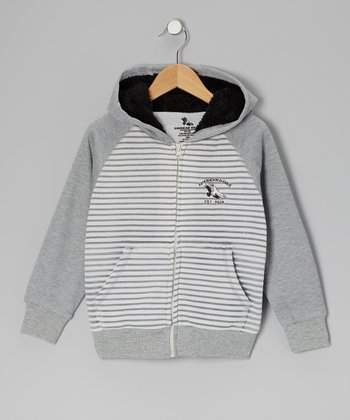 Gray American Hawk Zip-Up Hoodie - Boys