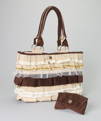 Brown Whitney Tote & Wallet