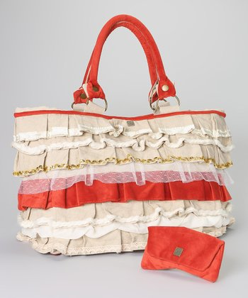 Orange Whitney Oversize Tote & Wallet