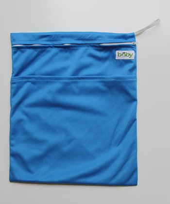 Blue Minky Wet Bag