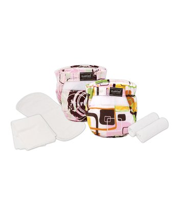 Pink Faded Circle Ultra-Lite Reusable Diaper Trial Pack