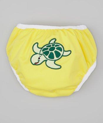 Monkey Doodlez Yellow Turtle Swim Diaper - Infant & Toddler